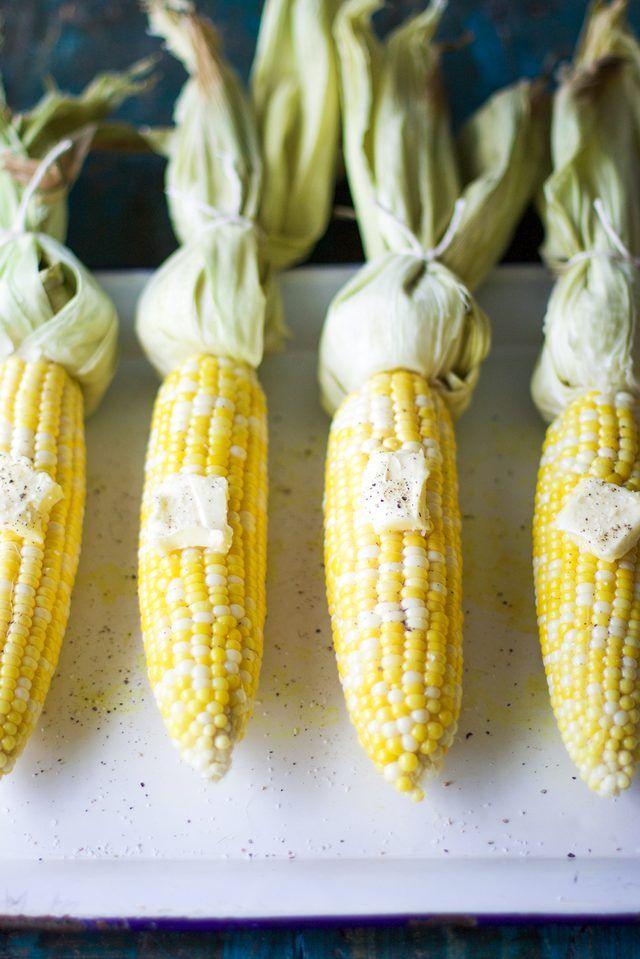 This recipe shows you how to bake corn in the oven to ensure moist corn on the cob every single time.