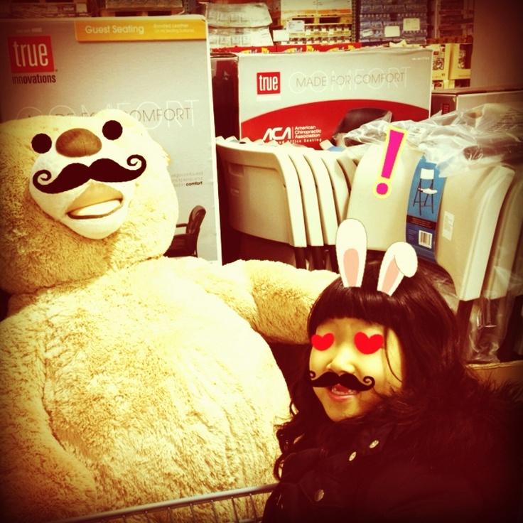lovely bear - Mustache Mania http://itunes.apple.com/us/app//id491895713?mt=8