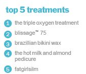 the triple oxygen treatment facial is the best best best! i won't get a facial anywhere else