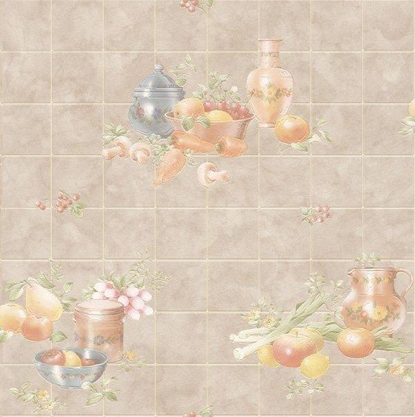 keuken vinyl fruit motief behang 884906