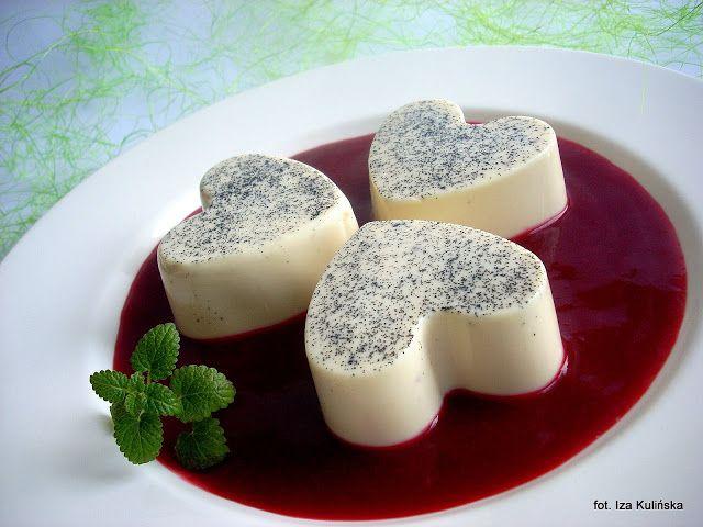 Smaczna Pyza sprawdzone przepisy kulinarne: Panna cotta waniliowa z sosem malinowym