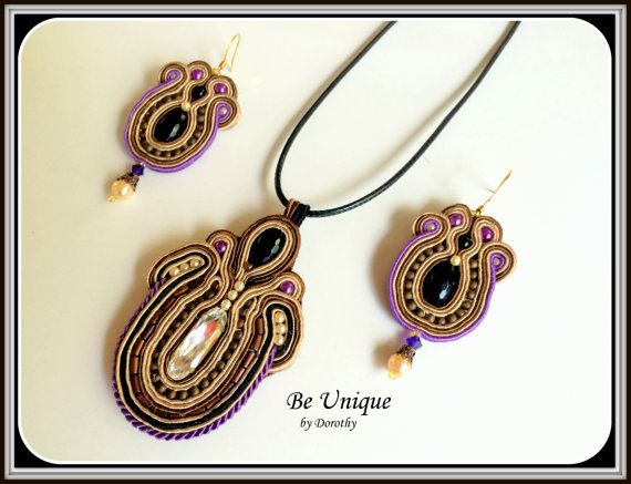 FREE SHIPPING/Soutache by BeUniqueGallery on Etsy