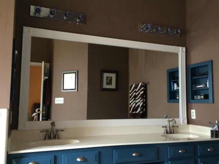 Builder Grade Bathroom Mirror Trim U0026 Corner Blocks From Home Depot Stuck  Straight To The Mirror