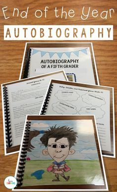 End of the Year Memory Book: Autobiography of a Fifth Grader This autobiography project is simple, clean, and organized! I use this autobiography as a final writing assignment with my fifth grade students. I bind the pages together and laminate the cover and the back page to give to students at the end of the year. It turns into a GREAT keepsake!