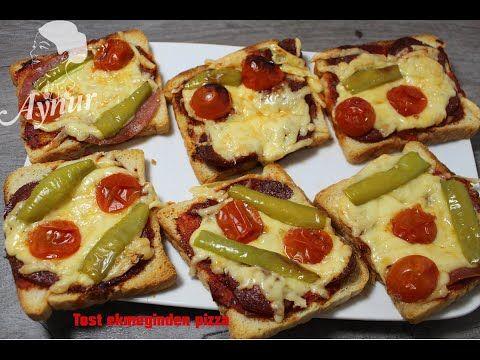 Tost ekmeğiyle Kolay pizza Tarifi #Sahur tarifi#Ramazan tarifi#15 dakikada pizza - YouTube