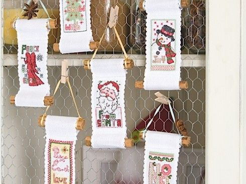 Festive Decorations, designed by Lesley Teare, originally published in @The World of Cross Stitching, Issue 184.