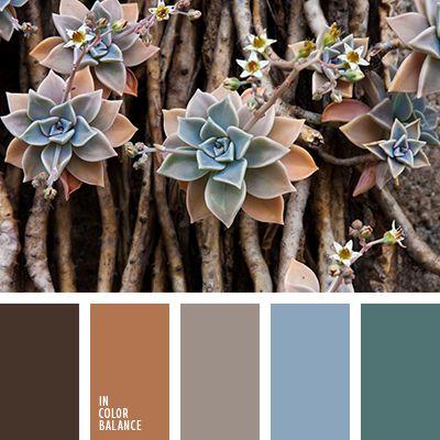 зеленый, изумрудный, оттенки коричневого, палитры для дизайнеров, рыже-коричневый цвет, серый, темно-рыжий цвет, цвет гранита, цвет корицы, цвет охры, цвет палочки корицы, черный и коричневый, черный и синий.