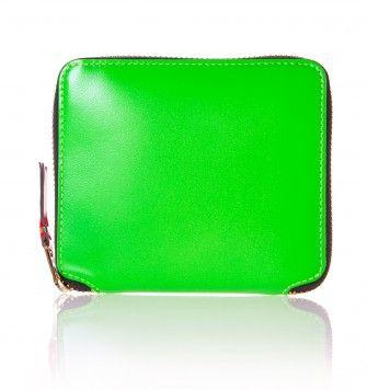 COMME DES GARÇONS WALLETS FULL ZIP SUPER FLUO SA2100SF WALLET. Green. £119.00