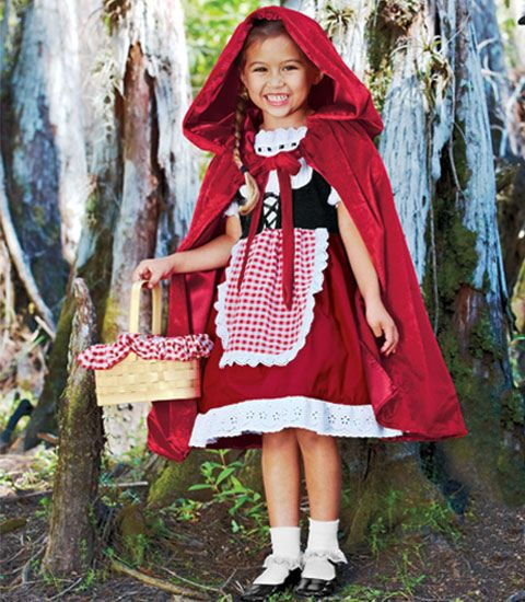 red riding hood costume - Chasing Fireflies