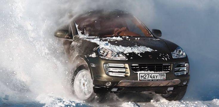 Вождение машиной с полным приводом зимой