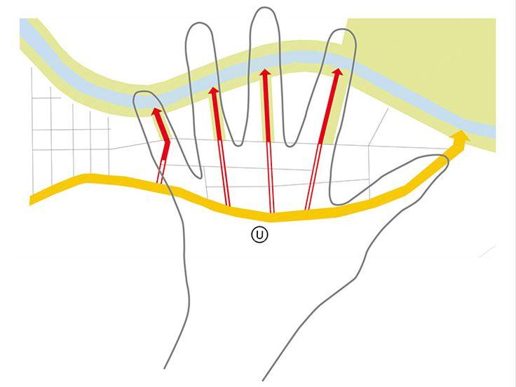 Konzept Fingerstruktur / Vernetzung