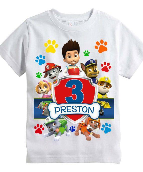 49da442d6 Adorable Paw Patrol Birthday T-Shirt by MidnightMooseDesigns ...