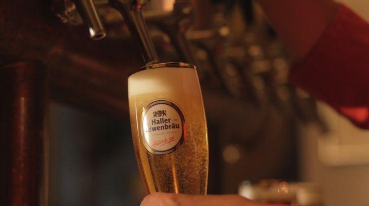 "#regional #typical #beer from #brewery ""Haller Löwenbräu"""