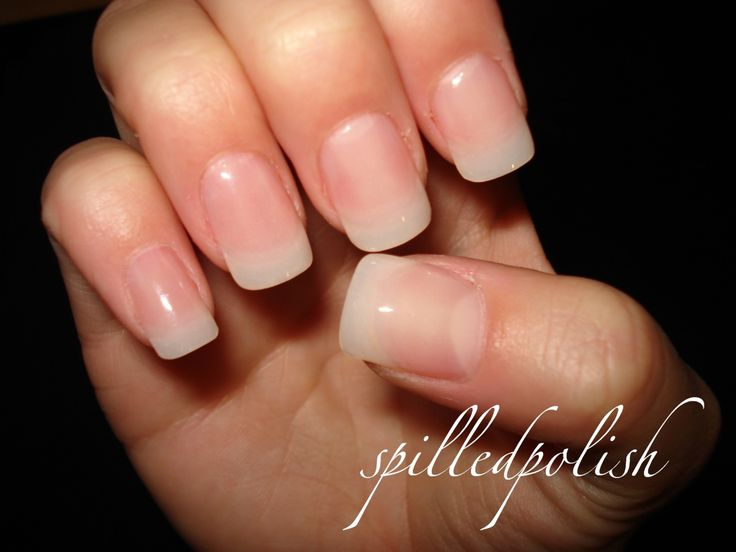 Powder Gel Nails - spilledpolish I like the color and the shape. - Best 25+ Clear Gel Nails Ideas On Pinterest Classy Gel Nails