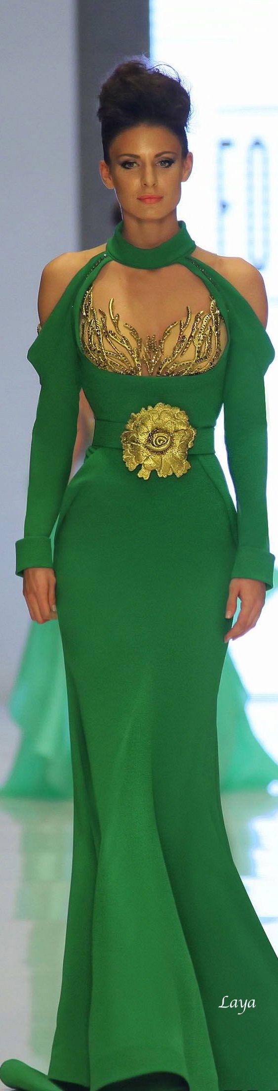 Une robe verte...