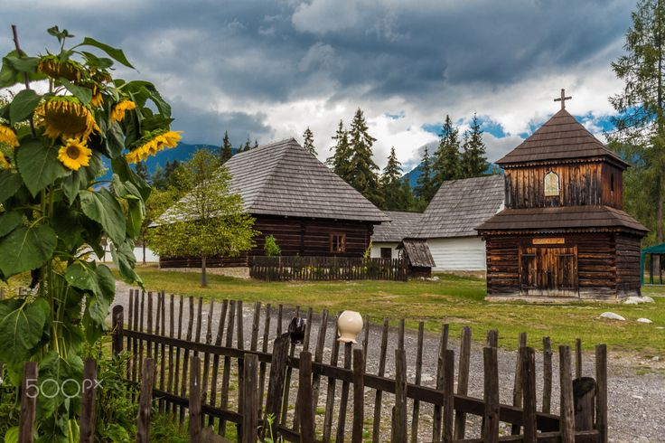 Photo was taken in Liptov, Slovakia. Museum of Liptov Village, is the most attractive landmark of the Liptov region. It displays the typical  folk architecture.