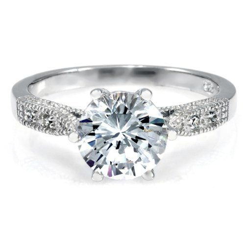 Ruth's Promise Ring - Round Cut CZ Emitations. $60.00