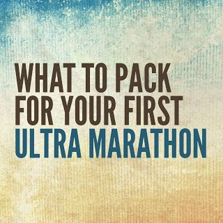 Slow is the New Fast: What to pack for your first ultra marathon...