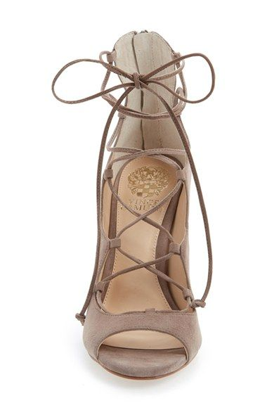 Vince Camuto 'Sandria' Lace Up Peep Toe Sandal (Women) | Nordstrom