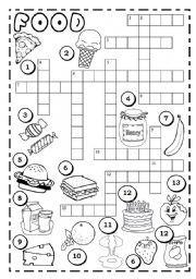 Easy To Eat Foods Crossword