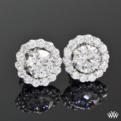 These Beautiful Custom Diamond Earring Jackets A Truly Breathtaking Cast In 18k White Gold