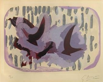 Untitled, from L'ordre des oiseaux By Georges Braque ,1962
