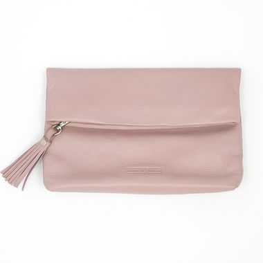 Stitch & Hide Lily Clutch - Dusty Rose - The Style Merchant