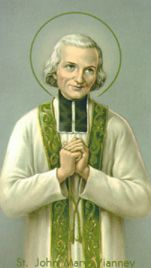 St. John Vianney almost did not become a priest because of his weak studies. However, he was ordained because of his holiness. Father Vianney was sent to the French village of Ars which had few God-fearing citizens. Through his works, penance and prayers, he converted the entire village. Soon, people everywhere came to seek him. He heard confessions for 16 hours everyday and converted many sinners. He is the patron saint of all priests. His feastday is on 4 August.