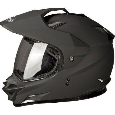 SAVE $32.96 - #GMAX GM11D Adult Dual Sport Motorcycle Helmet - Flat Black / Medium $86.99