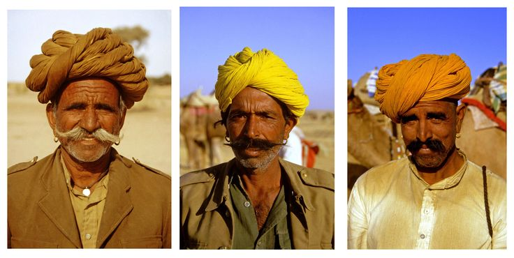Three Rajasthani Camel men, Thar Desert 1985 http://neilrawlins.blogspot.co.nz/2016/09/by-camel-to-jaisalmer-rajasthan.html