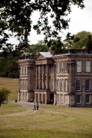 Calke Abbey, Derbyshire. The house was rebuilt in 1701-4 on an older original building. The Greek Revival portico was added to the south front in 1806-8.