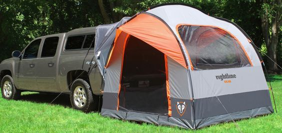 Tent for truck with topper