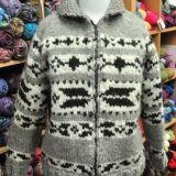 Alicia-Vintage Pattern - Cowichan Style Sweater with Arrowhead Design