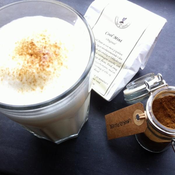 Cool mint latte med lakridstop