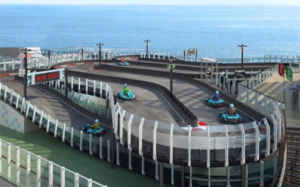 The #Norwegian Joy is scheduled for a 2017 launch and will feature a bi-level go-kart track on its top deck. #travel #adventure #explore #trips #tips #destinations #deck #cruise #ship #boat #river #ocean #cruiseline #gokart #activities #itinerary #2017 #comingsoon #places #vacations #getaway #getlost #traveltips #travelideas #travelstories #travelstory #travelexpert #traveljournal #travelstore
