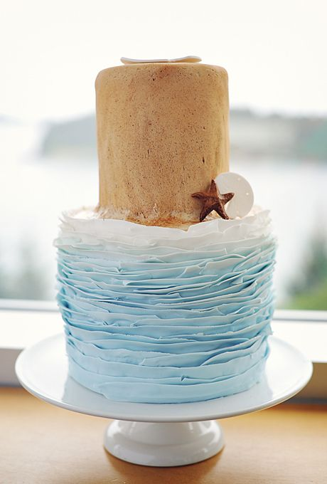 Brides: Beach-Themed Wedding Cakes | Simply B Photos
