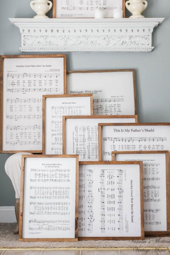 Purchase Farmhouse inspired signs with sheet music