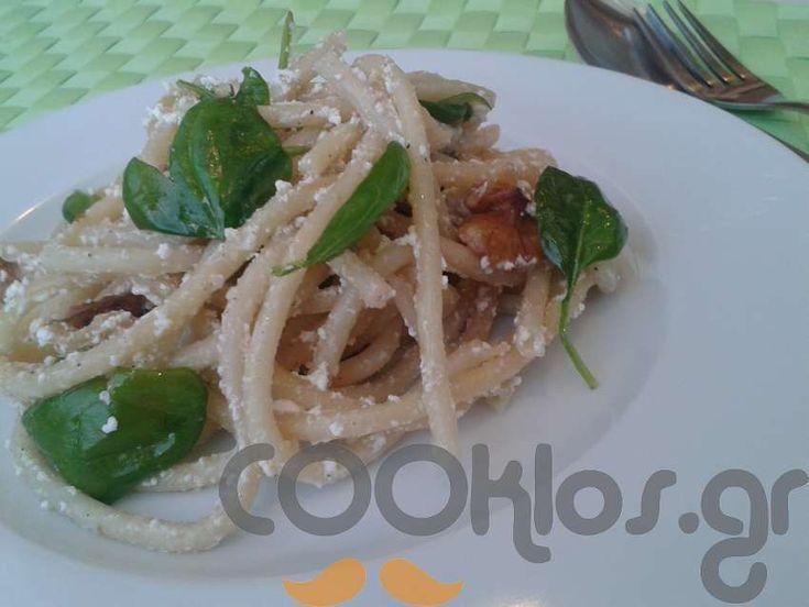 Μπουκατίνι με σπανάκι και καρύδια! at cooklos.gr