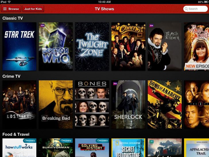 Netflix App. Video Apps.
