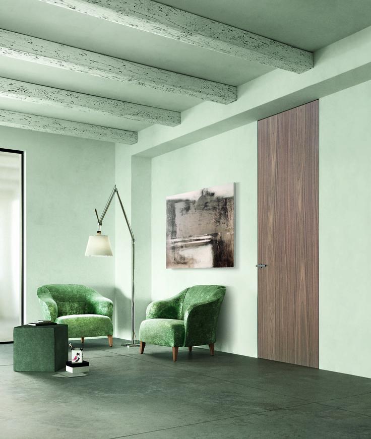 Porta FerreroLegno Modello Exit NoceCanaletto raso muro www.gallisrl.eu