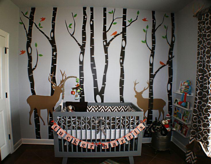 Rustic meets baby in this outdoor themed nursery! #nursery #nurserydecor