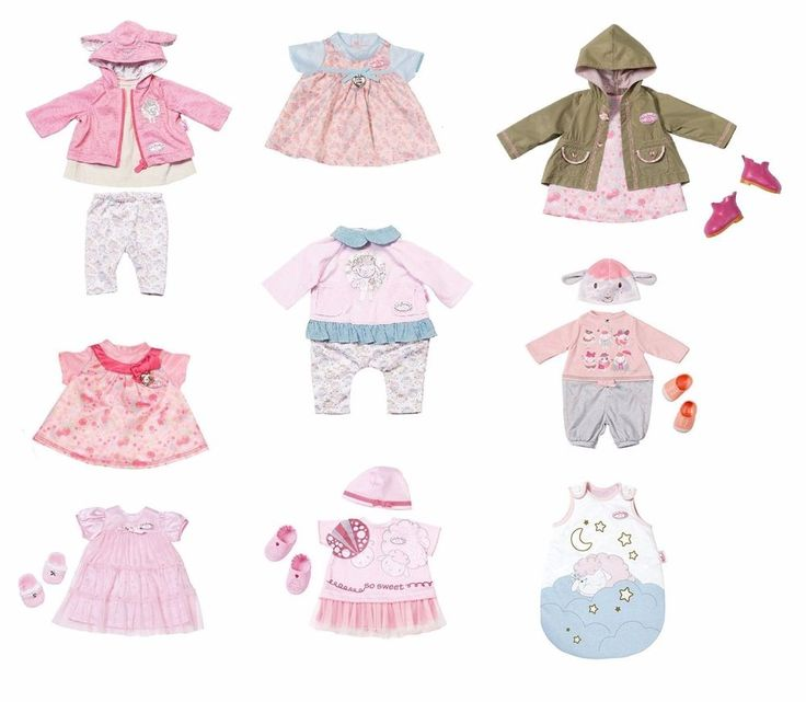"Zapf Creation Baby Annabell Deluxe Clothes Outfit Sets For 18"" / 46cm Dolls 