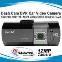Dash Cam DVR Car Video Camera Recorder FHD 148° Night Vision Crash 1080P 2.7 LCD