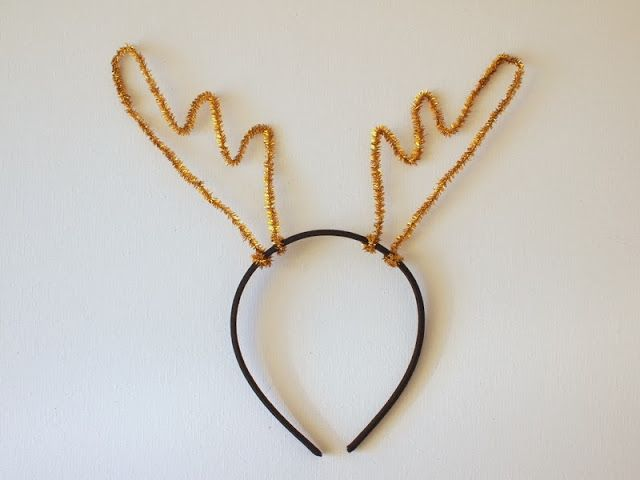 how to make reindeer antler headband