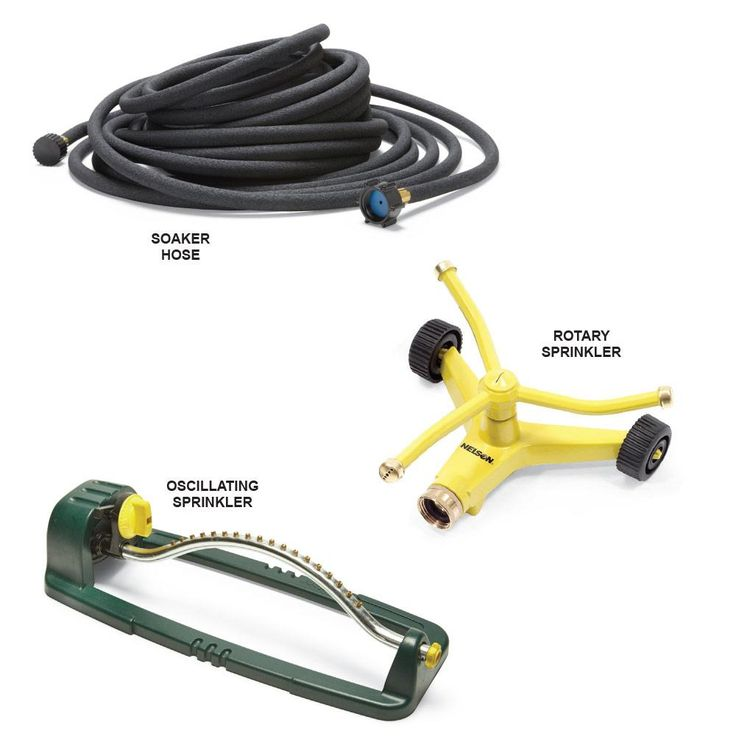 Choose the Best Sprinkler for the Location - Smart and Effective Lawn Watering Tips: http://www.familyhandyman.com/landscaping/lawn-care/smart-and-effective-lawn-watering-tips#5