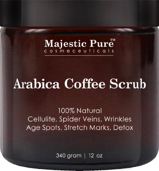arabica coffee scrub from majestic pure helps reduce cellulite wrinkles stretch marks spider. Black Bedroom Furniture Sets. Home Design Ideas
