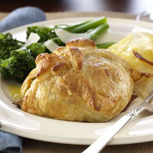 Classic Beef Wellingtons Recipe -Perfect for holidays, this entree is also impressively easy.  Find ready-made puff pastry sheets in the frozen food section.—Kerry Dingwall, Ponte Vedra, Florida