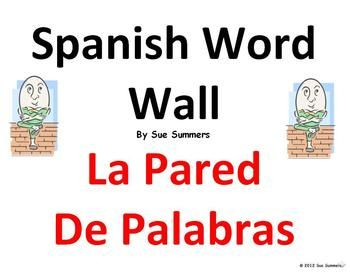 Spanish Word Wall Opinions & Survival Language Classroom Signs by Sue Summers