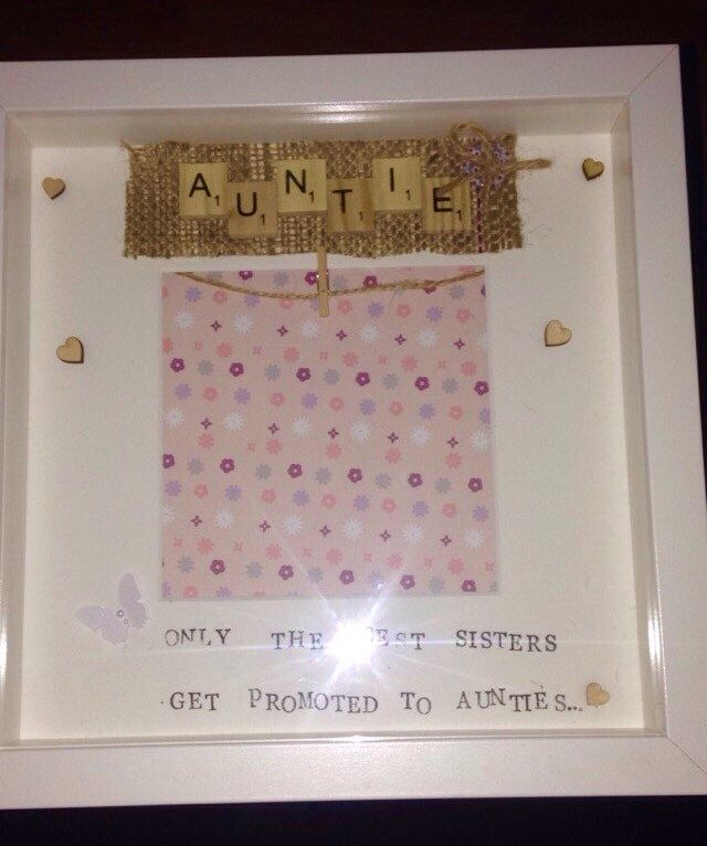 A personal favorite from my Etsy shop https://www.etsy.com/uk/listing/276260074/auntie-personalised-frame