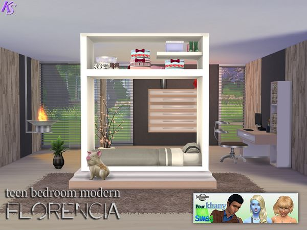 khany sims chambres sims 4 bedrooms les sims 4. Black Bedroom Furniture Sets. Home Design Ideas
